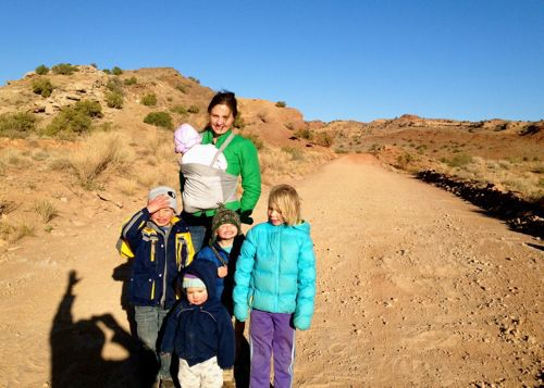 family hike, southern utah, camping with kids