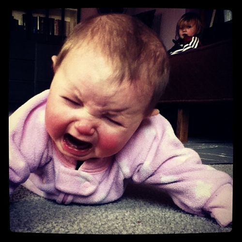 baby crying instagram