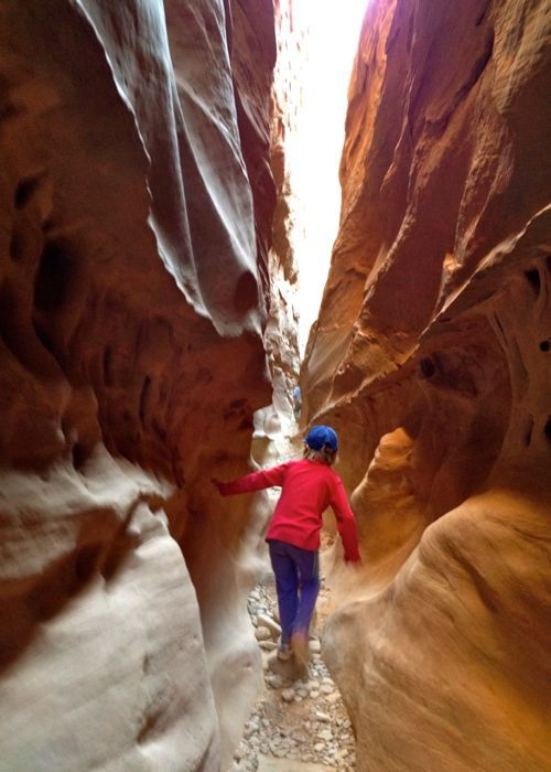 little girl in a slot canyon, little wild horse canyon