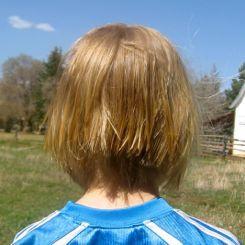 girl haircut after