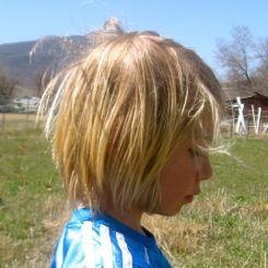 girl haircut before