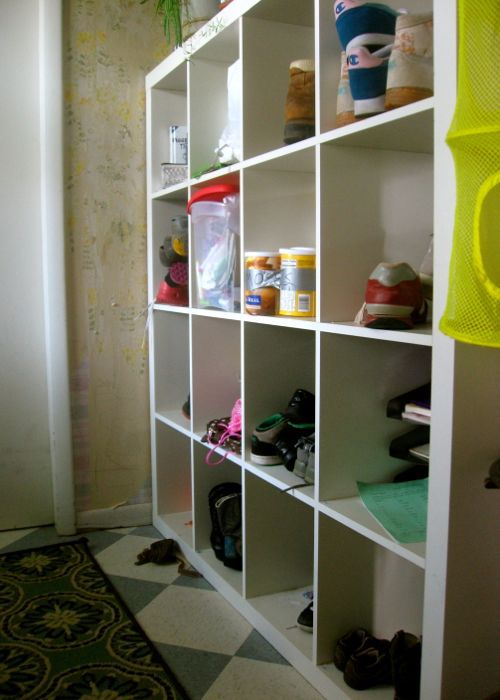 ikea expedit mudroom shoes
