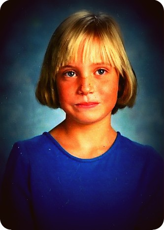 4th grade class picture, ten year old girl, 80s nostalgia