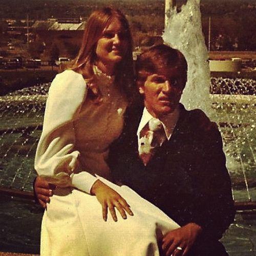 70s wedding photo