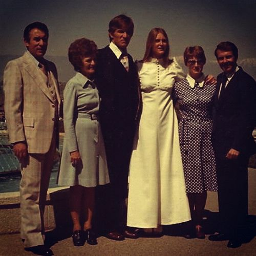 70s wedding photo