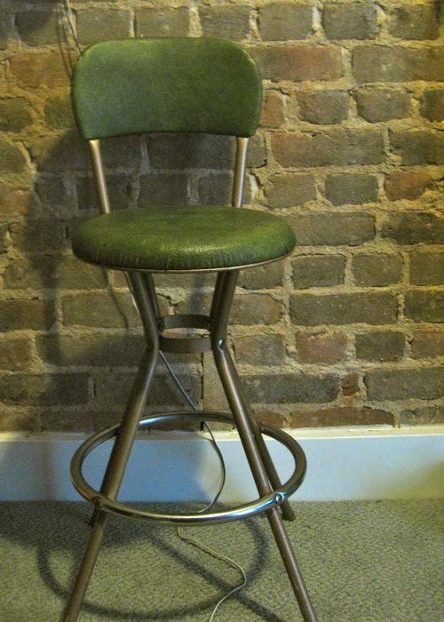 70s metal stool