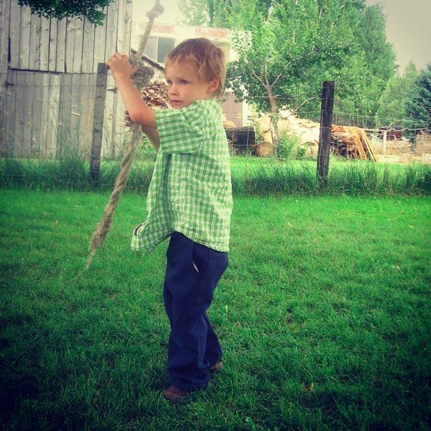 little boy rope swing instagram