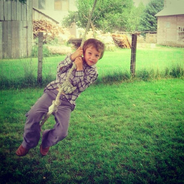 little boy rope swing instagram