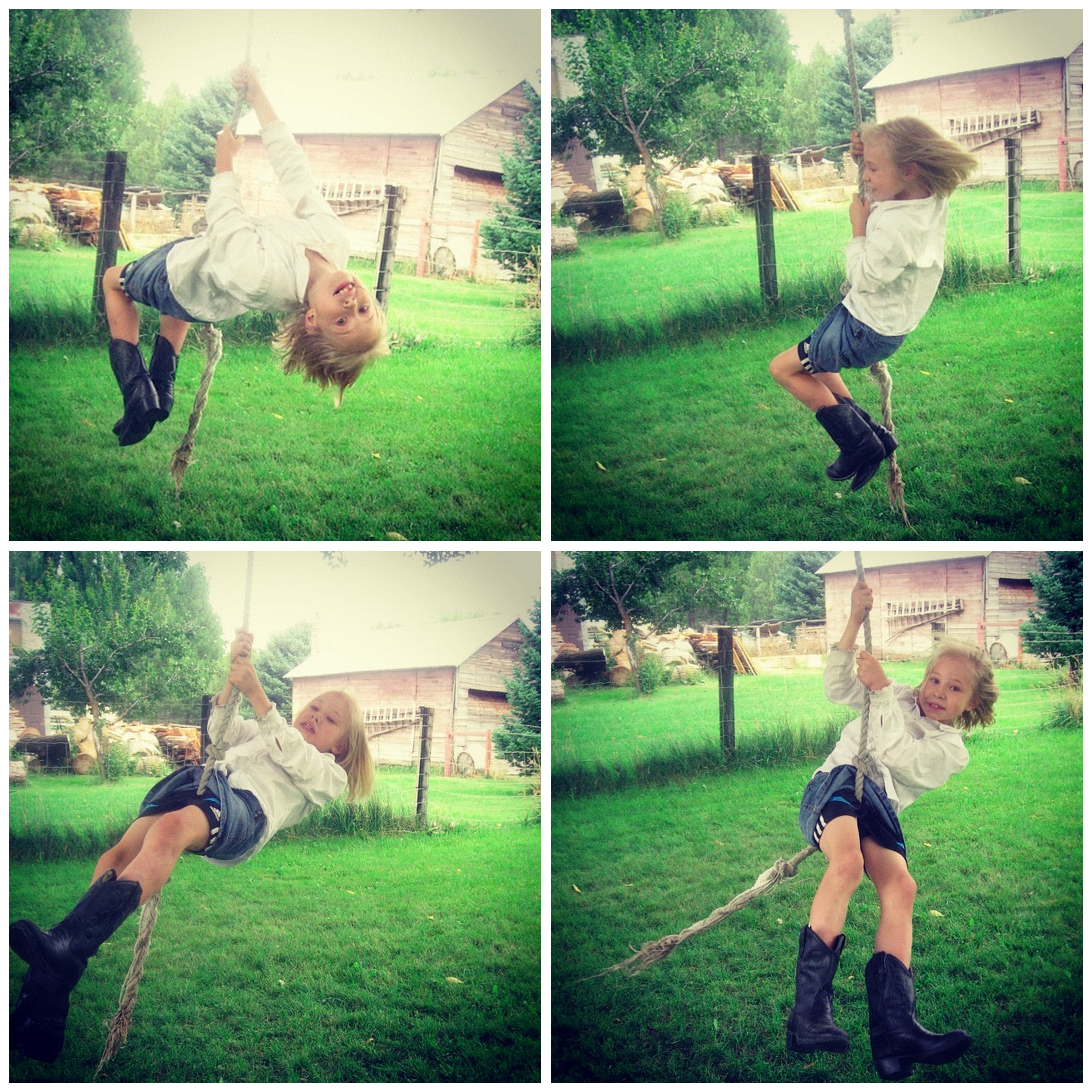 little girl rope swing instagram