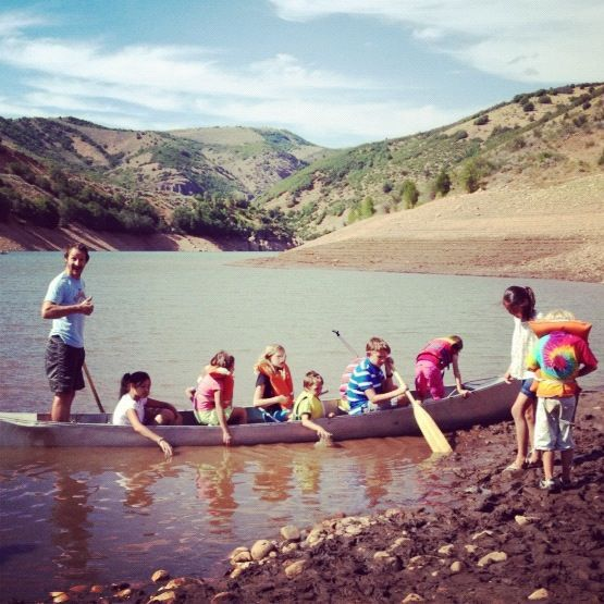 lots of kids in canoe instagram