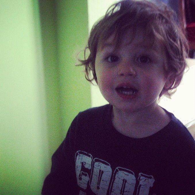 toddler boy smiling green navy instagram