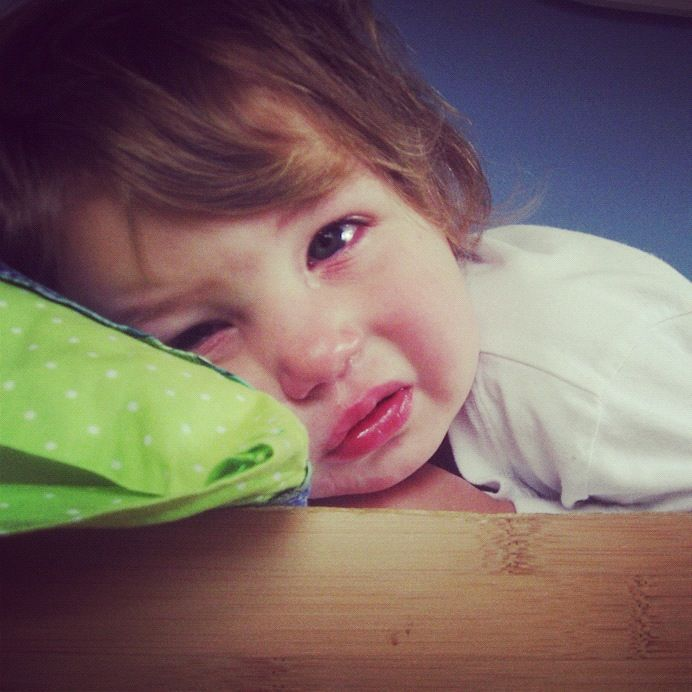 little toddler boy crying in bed instagram