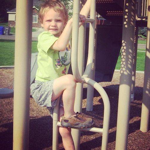 little boy climbing playground instagram