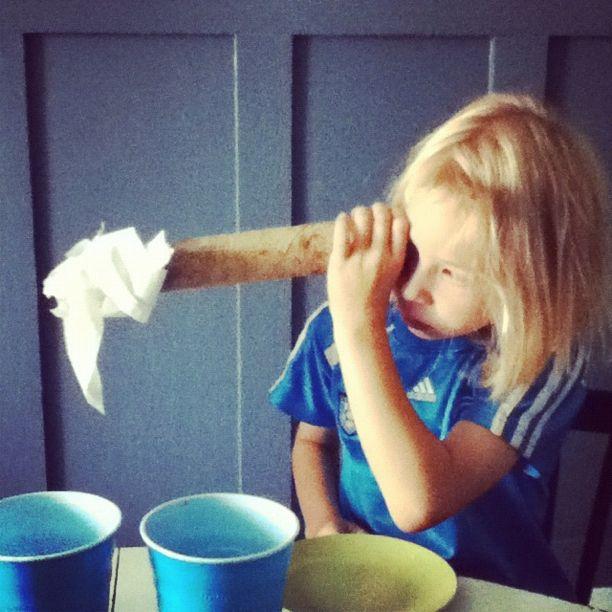 little girl cardboard tube instagram