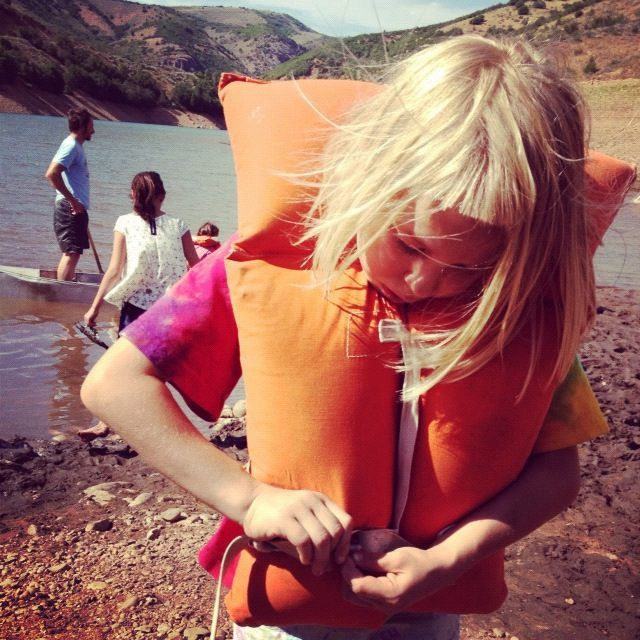 little girl lifejacket instagram