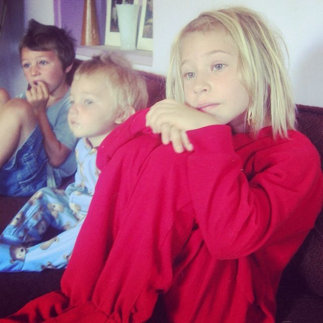 little girl in red footy pajamas instagram