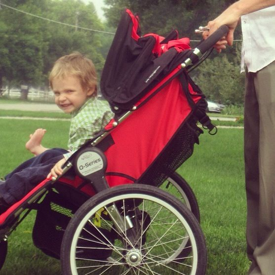 little boy in stroller instagram