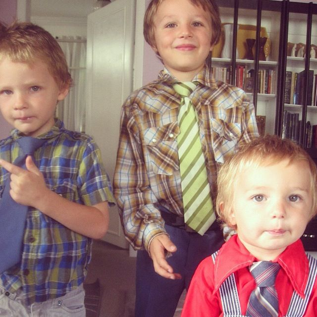 brothers ties little boys church instagram