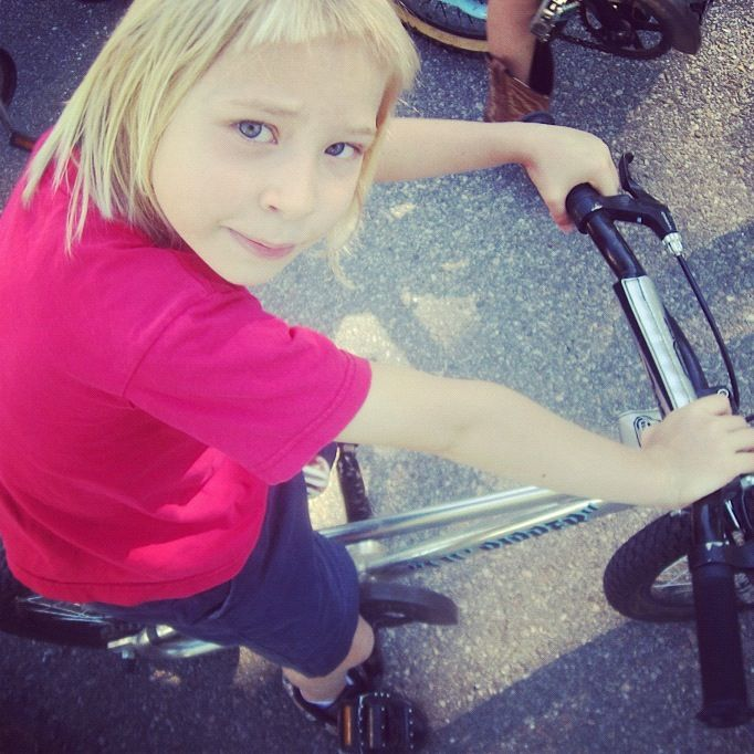 little blond girl bike instagram