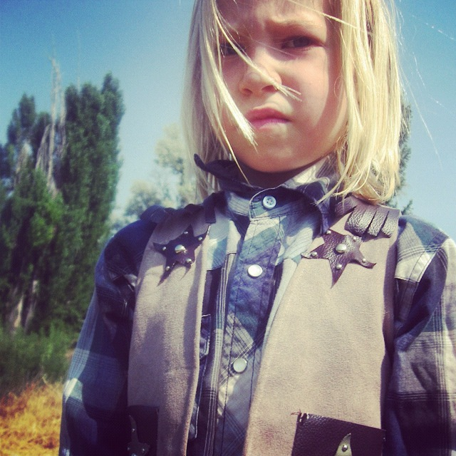 little girl cowboy instagram closeup