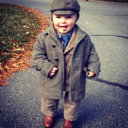 little boy church suit tie hat overcoat instagram cowboy boots