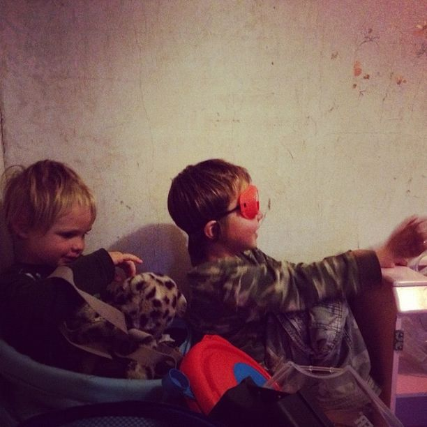 brothers pretending to fly airplane instagram