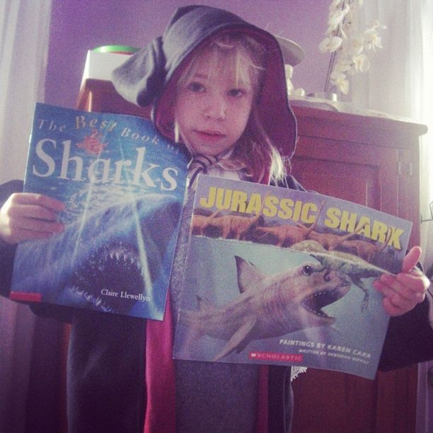 little girl harry potter shark books instagram