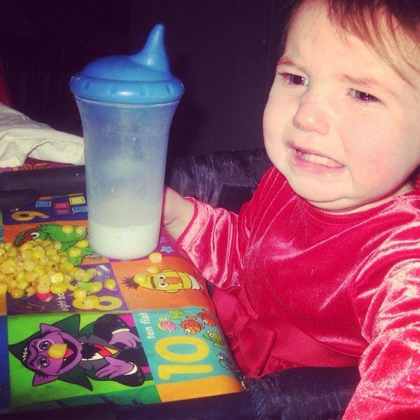 baby girl crying eating dinner instagram