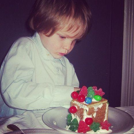 little boy graham cracker gingerbread house instagram