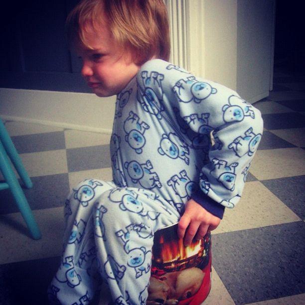 little boy stuck in bucket instagram