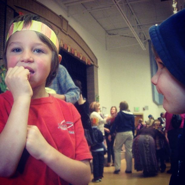 little boy and brother thanksgiving school program instagram