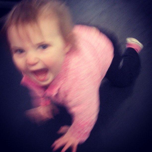 baby girl crawling instagram