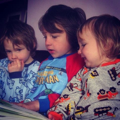 little boys reading story instagram