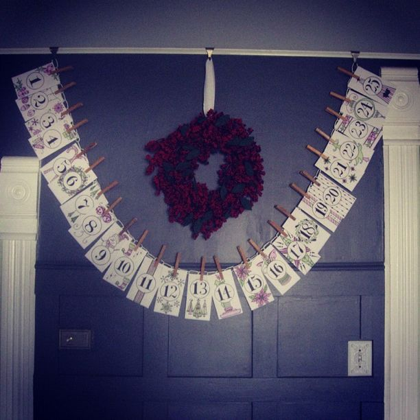 advent calendar christmas wreath instagram