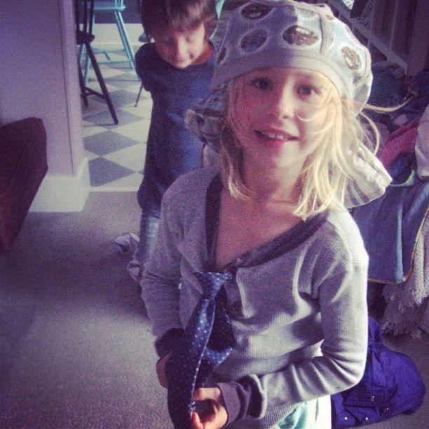 little girl underwear on head instagram