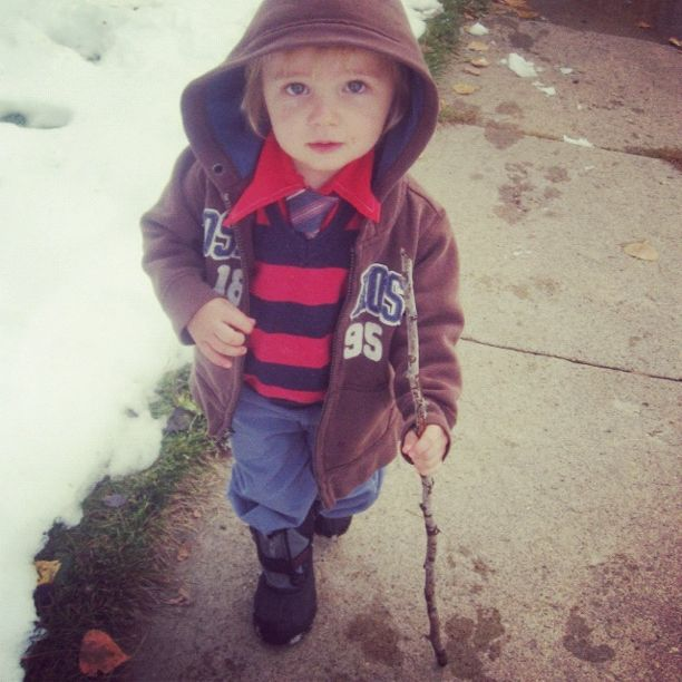 little toddler boy walking stick instagram