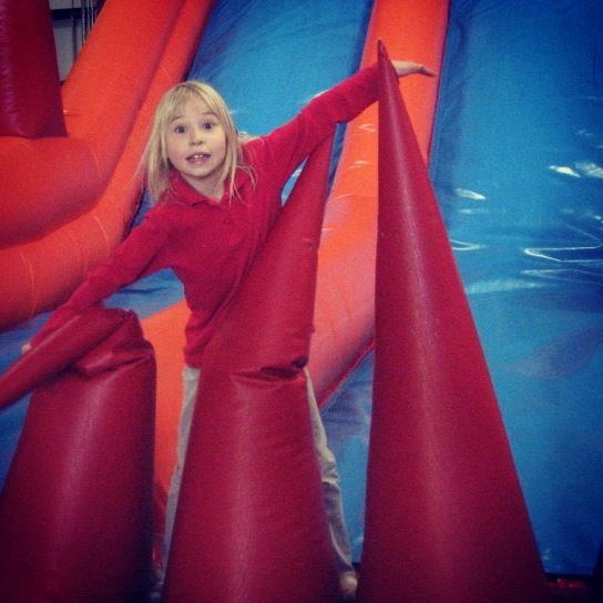 little girl bounce house kangaroo zoo instagram