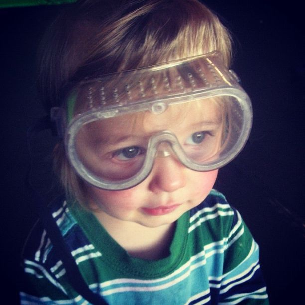 little boy goggles instagram