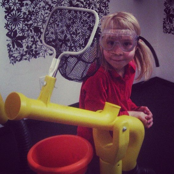 little girl air gun kangaroo zoo goggles instagram