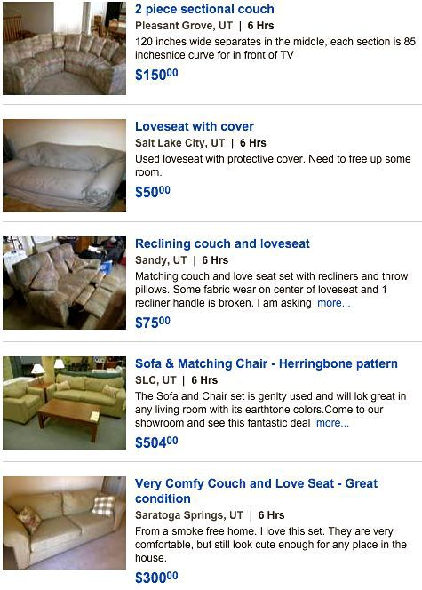 used sofa ads classifieds