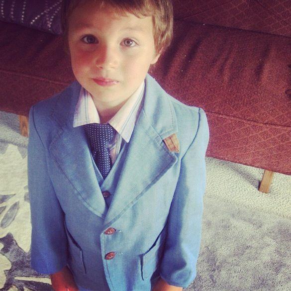 little boy blue three piece suit instagram