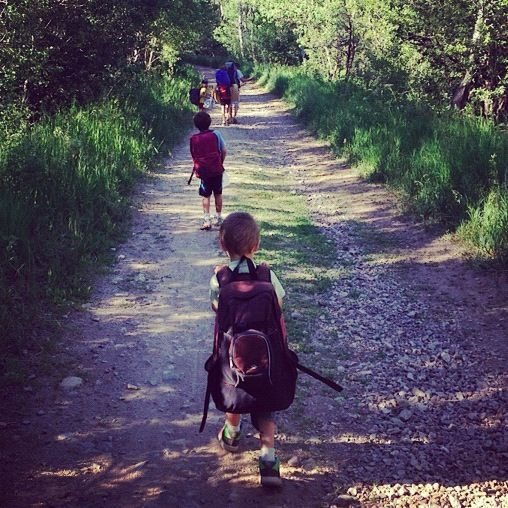 family hiking camping instagram