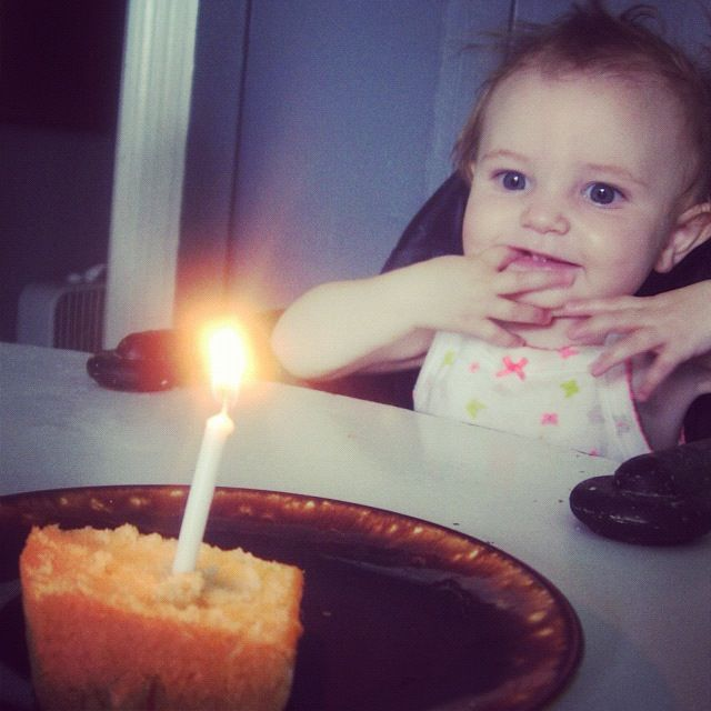 baby girl cake one candle birthday instagram