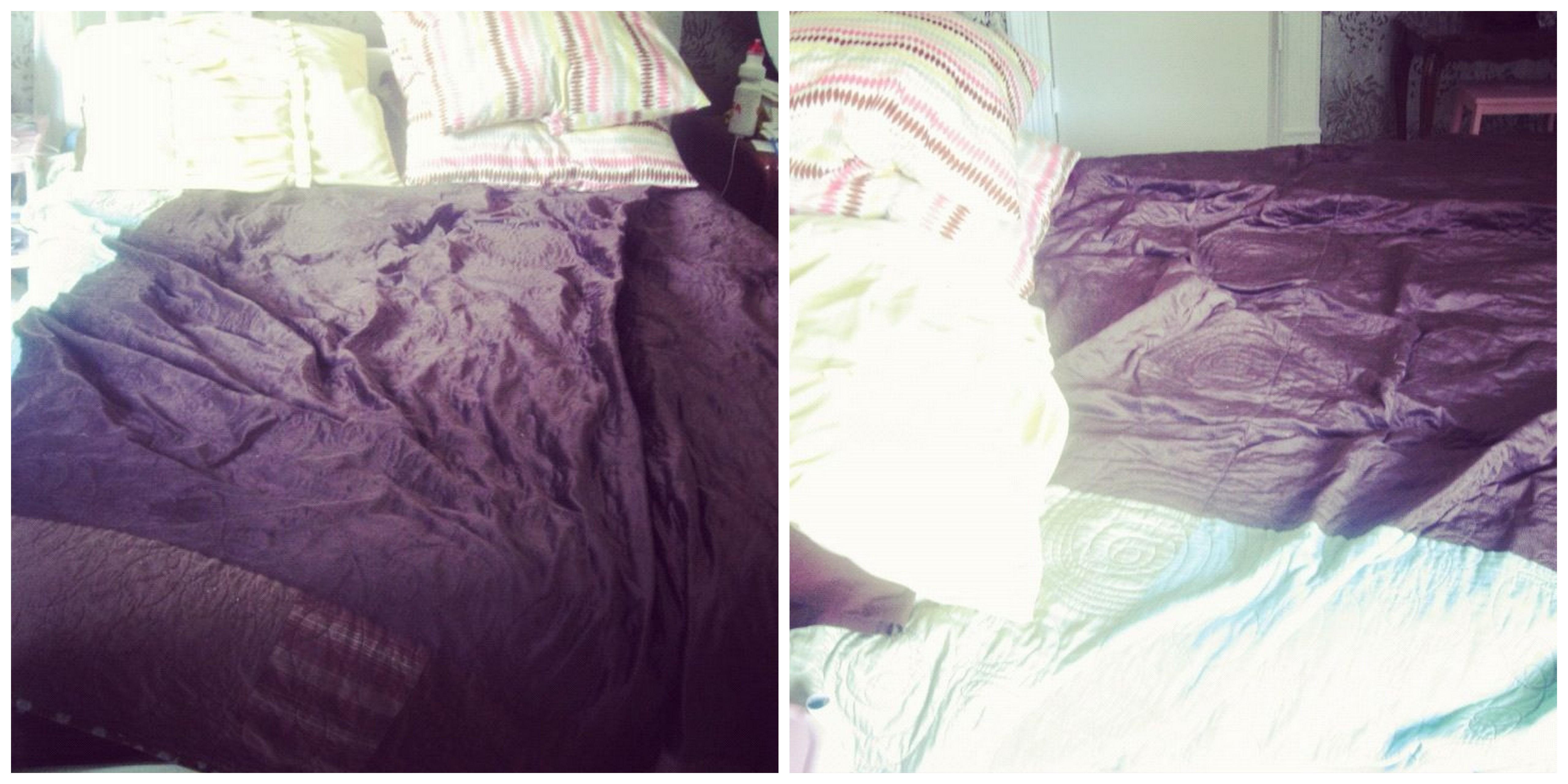 wrinkled bed instagram