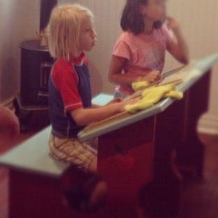 little girl at desk instagram fuzzy
