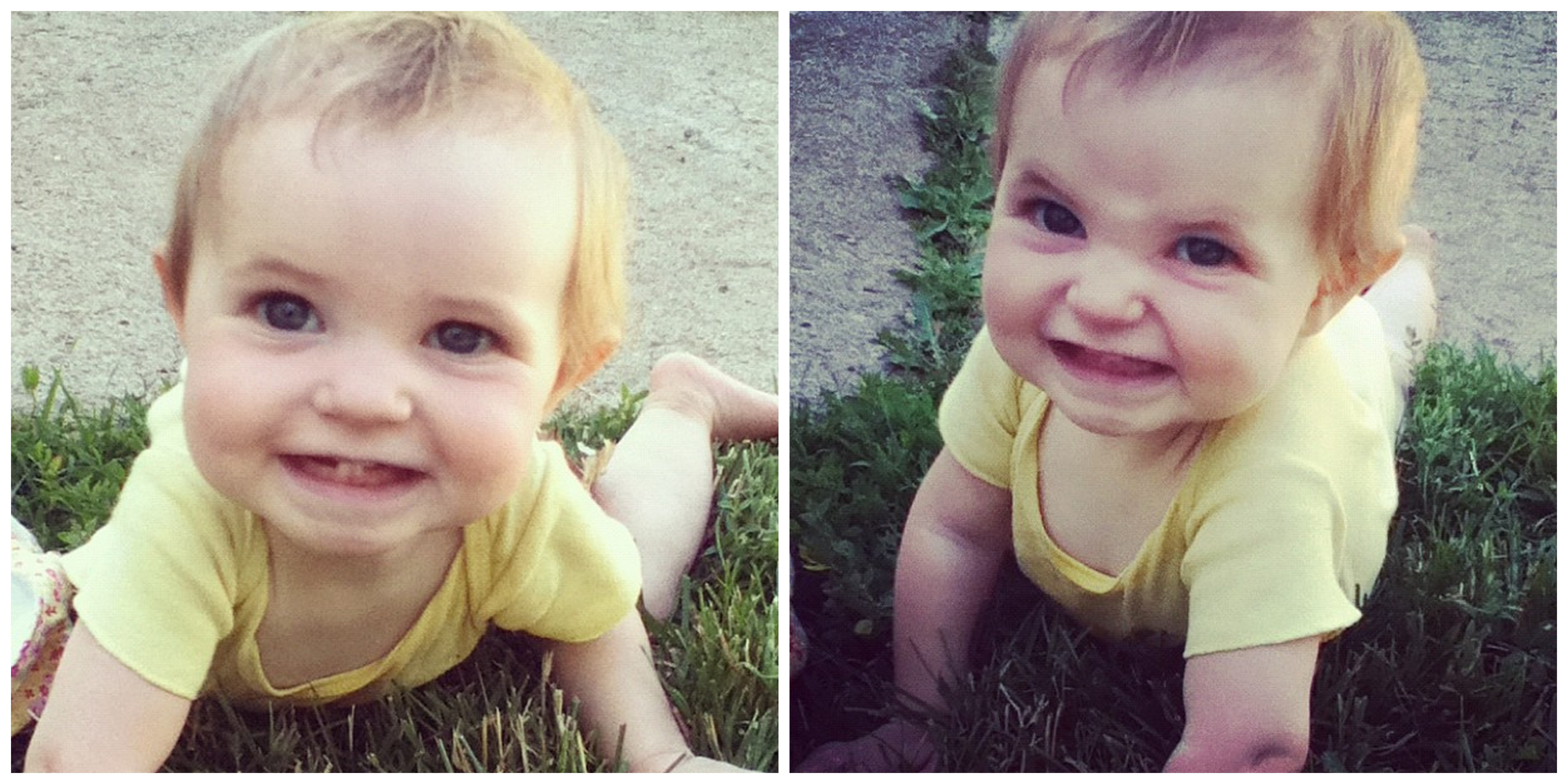 baby girl crawling smiling instagram