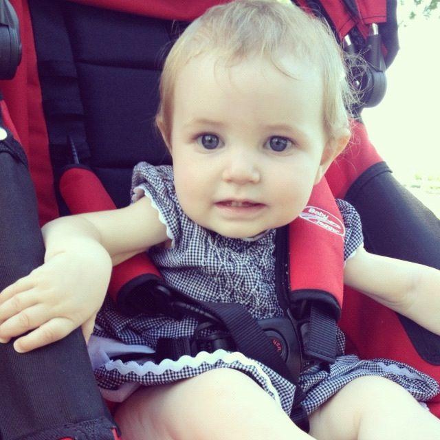 baby girl sitting in stroller instagram