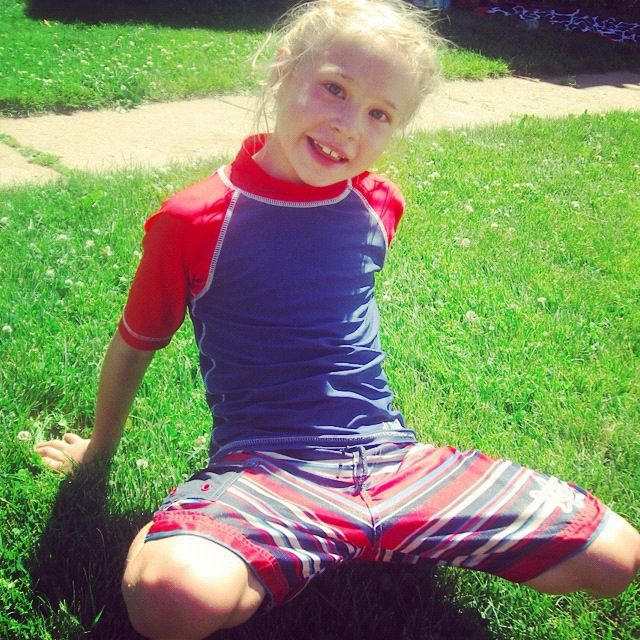 little girl smiling red white blue instagram