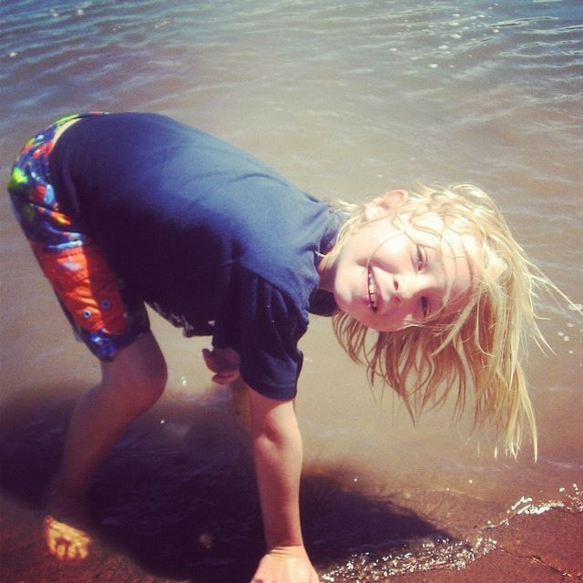 little girl beach instagram