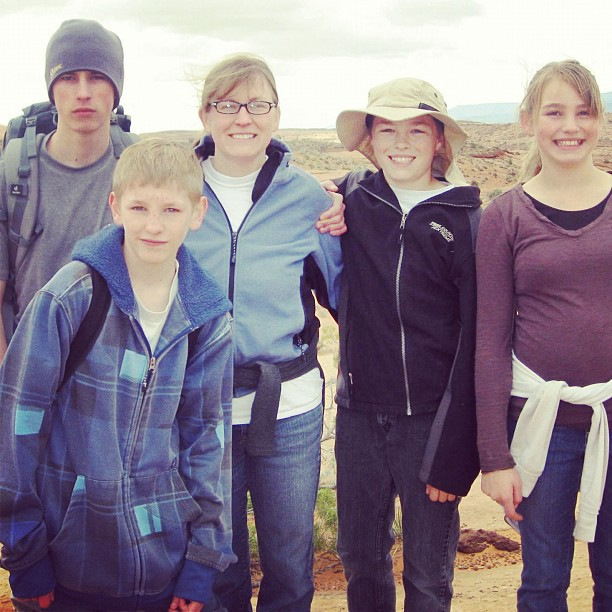 family in escalante state park instagram